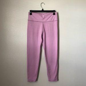 Fabletics Pink Yoga Leggings - Ankle Crop